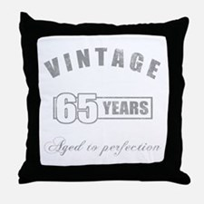 Vintage 65th Birthday Throw Pillow
