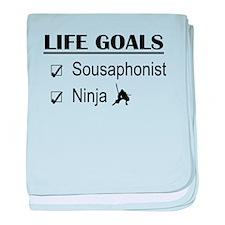 Sousaphonist Ninja Life Goals baby blanket