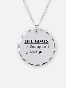 Sousaphonist Ninja Life Goal Necklace Circle Charm