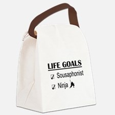 Sousaphonist Ninja Life Goals Canvas Lunch Bag