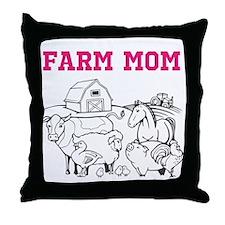 FARM MOM Throw Pillow