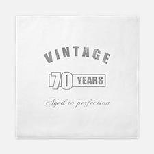 Vintage 70th Birthday Queen Duvet