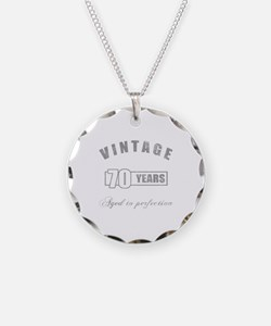 Vintage 70th Birthday Necklace Circle Charm