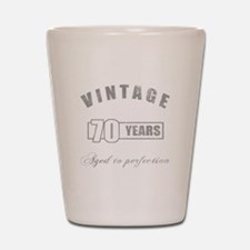 Vintage 70th Birthday Shot Glass