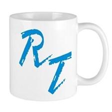 RT, blue Mugs