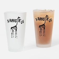 Xrays R us, black on white Drinking Glass