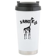 Xrays R us, black on white Travel Mug