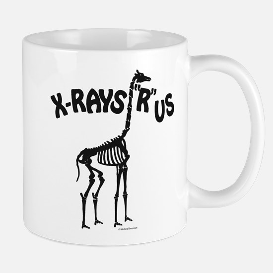 Xrays R us, black on white Mugs