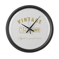 Vintage 75th Birthday Large Wall Clock