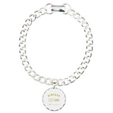 Vintage 75th Birthday Charm Bracelet, One Charm