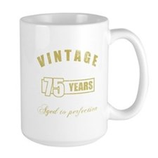 Vintage 75th Birthday Mug