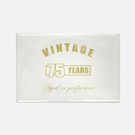 Vintage 75th Birthday Rectangle Magnet
