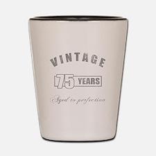 Vintage 75th Birthday Shot Glass
