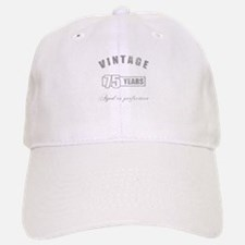 Vintage 75th Birthday Baseball Baseball Cap