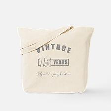 Vintage 75th Birthday Tote Bag
