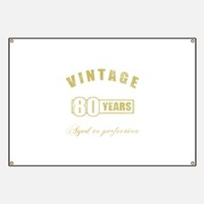 Vintage 80th Birthday Banner