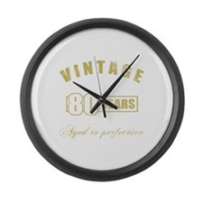 Vintage 80th Birthday Large Wall Clock
