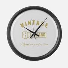 Vintage 80th Birthday Large Wall Clock