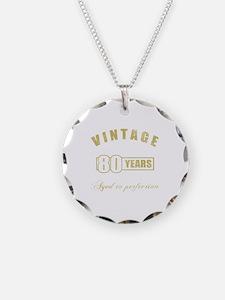 Vintage 80th Birthday Necklace