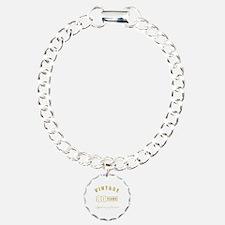 Vintage 80th Birthday Bracelet