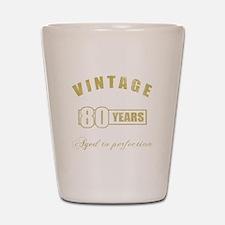 Vintage 80th Birthday Shot Glass