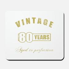 Vintage 80th Birthday Mousepad