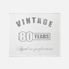 Vintage 80th Birthday Throw Blanket