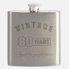 Vintage 80th Birthday Flask