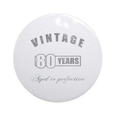 Vintage 80th Birthday Ornament (Round)