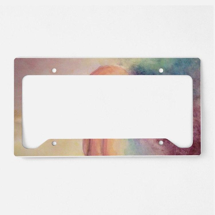 Rainbow Rabbit License Plate Holder