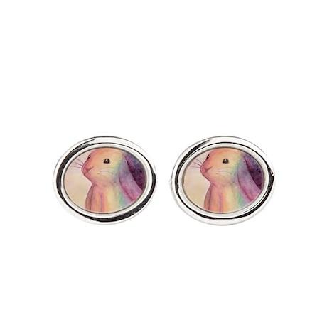 Rainbow Rabbit Cufflinks