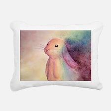 Rainbow Rabbit Rectangular Canvas Pillow