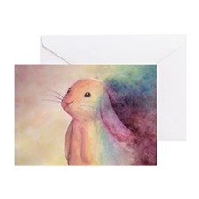 Rainbow Rabbit Greeting Card
