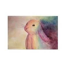 Rainbow Rabbit Rectangle Magnet