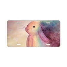 Rainbow Rabbit Aluminum License Plate