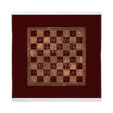 Antique Checkerboard Queen Duvet
