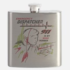 911 dispatcher, red and green Flask