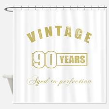 Vintage 90th Birthday Shower Curtain