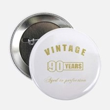 "Vintage 90th Birthday 2.25"" Button"