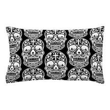 Sugar Skull Black Pillow Case