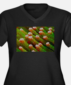 Stained Glass Coral Reef Plus Size T-Shirt
