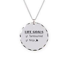 Tambourinist Ninja Life Goal Necklace