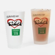 I survived my coronary bypass Drinking Glass