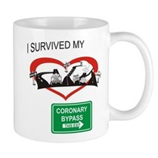 I survived my coronary bypass Mugs