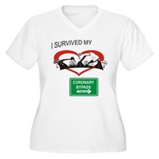 I survived my coronary bypass Plus Size T-Shirt