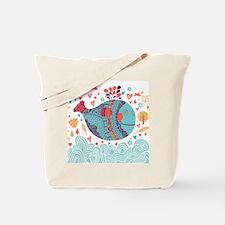 Whimsical Whale Tote Bag