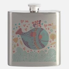 Whimsical Whale Flask