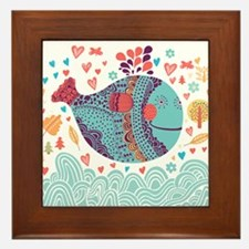 Whimsical Whale Framed Tile