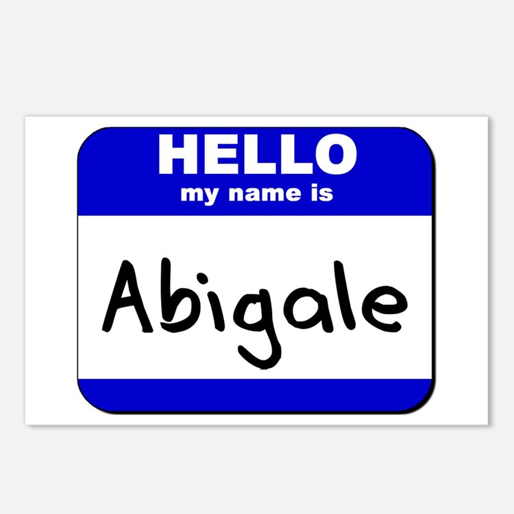 hello my name is abigale  Postcards (Package of 8)