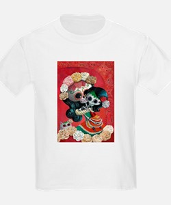 Mexican Skeletons - Mother with Daughter T-Shirt